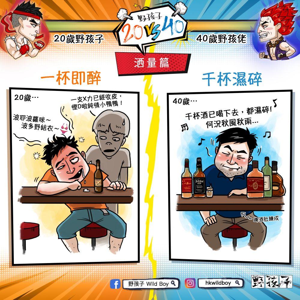 【野孩子20 vs 40】- 酒量篇示意圖